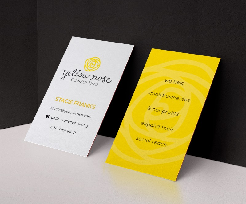 Yellow Rose Consulting Branding and Business Card